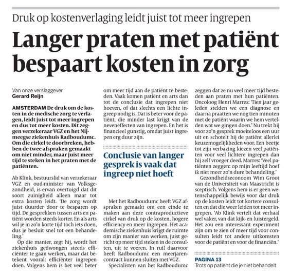 langer praten met patient